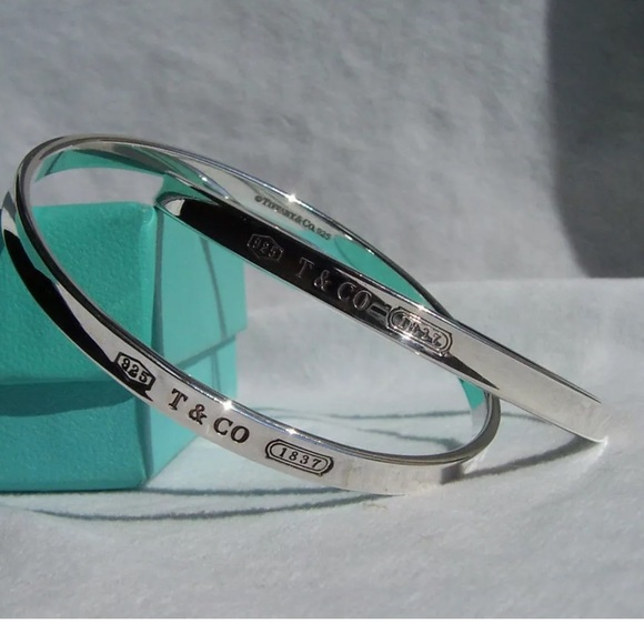 a0ecebba7 Tiffany & Co. Jewelry | Tiffany Co 1837 Interlocking Bangle Bracelet ...